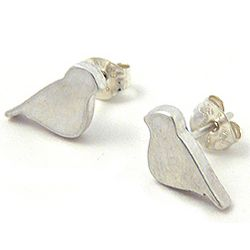 Itty Bitty Sterling Silver Birds Post Earrings