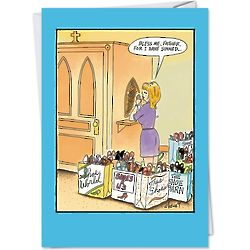Bless Me Shoes Shopping Birthday Card