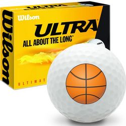 Basketball Ultra Ultimate Distance Golf Ball
