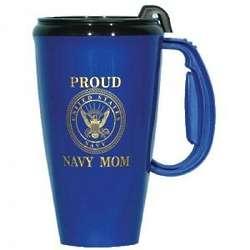 Proud Navy Mom Travel Mug