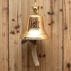 Last Call Brass Ship's Bell