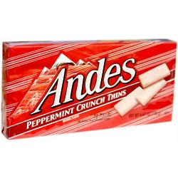 Andes Peppermint Crunch Thins Box