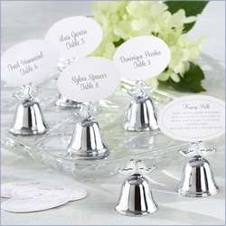 Love Birds Kissing Bells and Place Card Holders