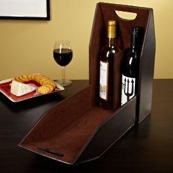 Two-In-One Monogrammed Wine Bottle Carrier