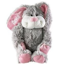 Personalized Gray Hug a Long Bunny