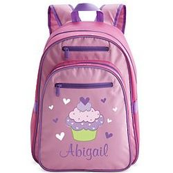 Large Pink Personalized Cupcake Backpack