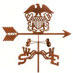 Antique Copper Navy Weathervane