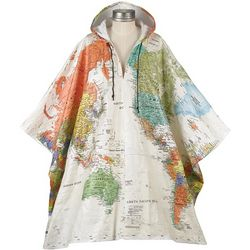 Tyvek World Map Poncho