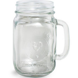 French Hen Mason Jar Drinking Glass