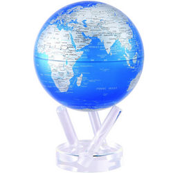 "6"" Cobalt Blue and Silver Rotating Globe"