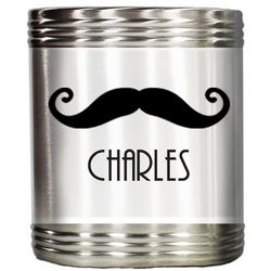 Personalized Curly Mustache Stainless Steel Beer Koozie