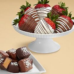 Sea Salted Caramels and Chocolate Dipped Strawberries