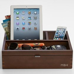 Personalized Wood Charging Station and Valet