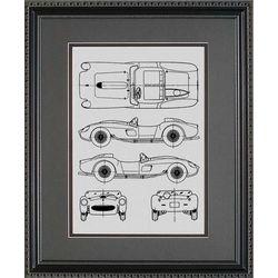 Ferrari Blueprint Art Print