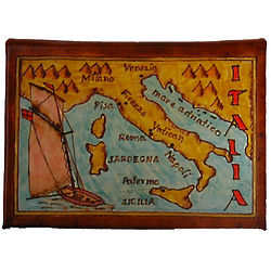 Map of Italy Leather Photo Album in Color