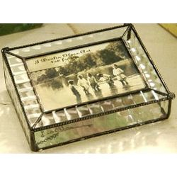 Cross Reed Stained Glass Picture Box