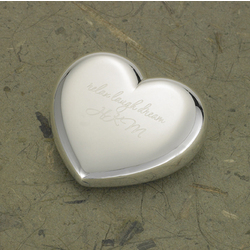 Personalized Light-Hearted Love Silver Plated Paper Weight