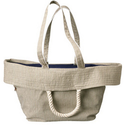 Women's Striped Canvas Tote