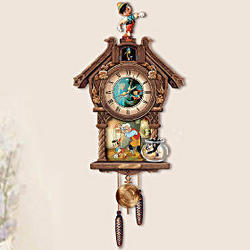 Disney Pinocchio 70th Anniversary Cuckoo Clock