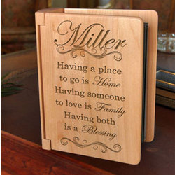 Personalized My Family is a Blessing Wooden Photo Album