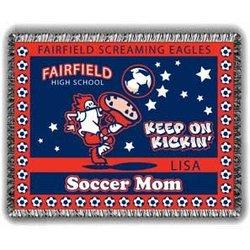 Personalized Kickin' Soccer Mom Afghan