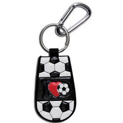 I Love Soccer Key Chain