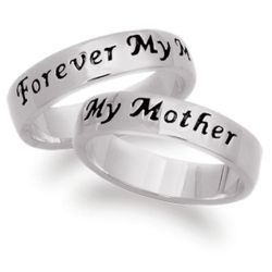 Sterling Silver Mother Sentiment Engraved Ring