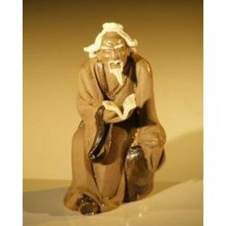 Man Reading Book Ceramic Figurine