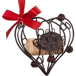 Heart's Desire Cork Cage Ornament