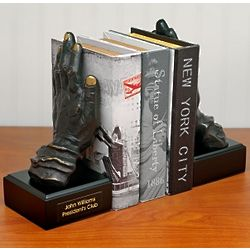 Hands of Faith Bronze Bookends
