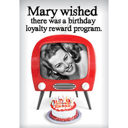 Birthday Loyalty Program Greeting Card