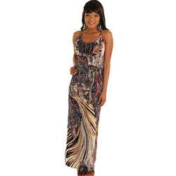 Chic Mixed Print Sleevless Maxi Dress