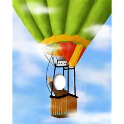 Hot Air Balloon Caricature from Photos Art Print