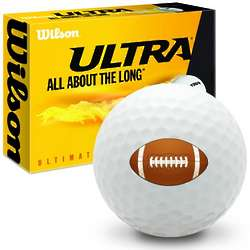 Football Ultra Ultimate Distance Golf Ball