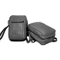 Black Leather Male Bag with Organizer