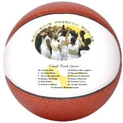 Personalized Full Size Basketballs with Roster and Photo