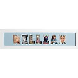Blue Personalized Name Frame Photo Collage