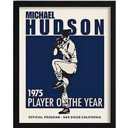 Personalized Vintage Baseball Pitcher Framed Print