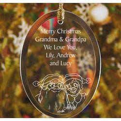 Personalized Grandparents Glass Ornament