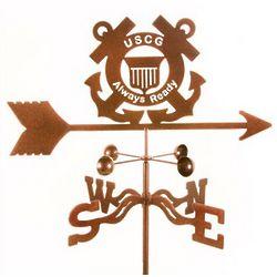 Antique Copper Coast Guard Weathervane