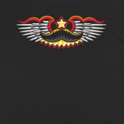 Crest of Awesomeness Mustache T-Shirt