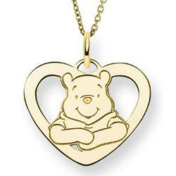 Gold Vermeil Winnie the Pooh Heart Pendant