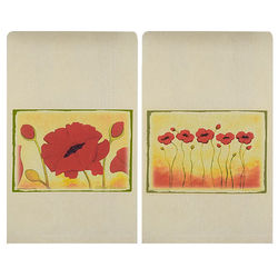 Red Poppies Kitchen Tea Towel Set