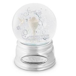 First Communion Water Globe
