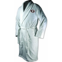 Georgia Bulldogs White Terrycloth Logo Bathrobe