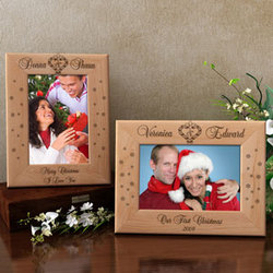 Personalized Mistletoe of Love Wooden Picture Frame