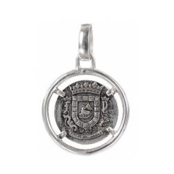 Silver Nautical Coin Pendant