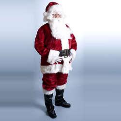 Crimson Regency Plush Santa Suit
