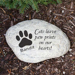 Engraved Cat Memorial Garden Stone
