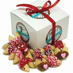 Hand Dipped Gourmet Romantic Fortune Cookies Gift Box
